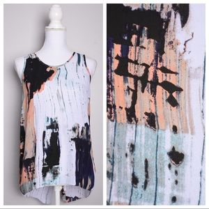 💕5for$25💕Mossimo Split Back Abstract Tank Top